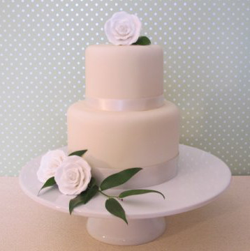 Wedding Cake Porsham Cakes Simple White Two Tier Cake With Fresh
