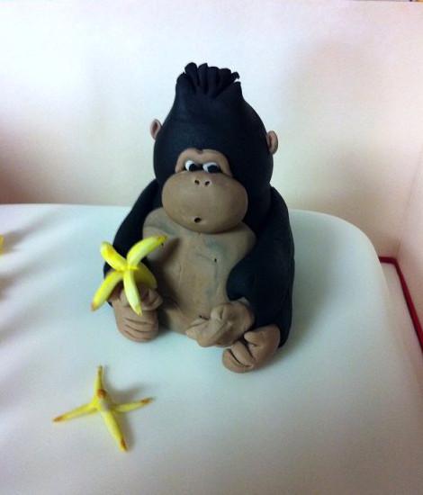 Gorilla With Birthday Cake