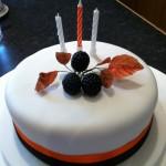 Devon autumn birthday cake