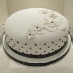 Black and white chic ladies cake