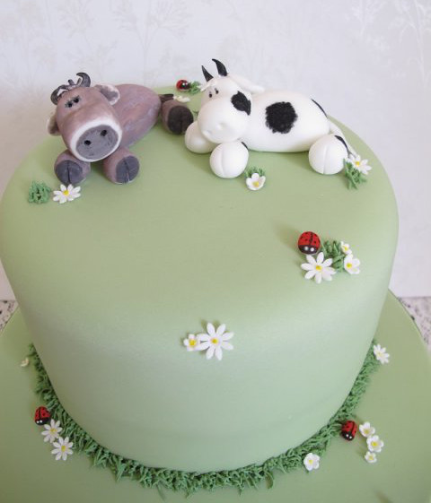 Remarkable Cow Topper Birthday Cake Cake Maker In Devon Funny Birthday Cards Online Amentibdeldamsfinfo