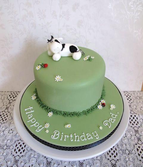 Fantastic Farmers Cow Birthday Cake Cake Maker In Devon Birthday Cards Printable Riciscafe Filternl