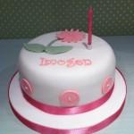 Girls button birthday cake