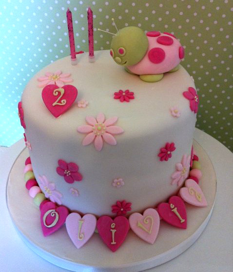 Little Girls Birthday Cake Pink Cute Devon Uk