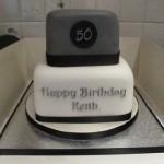 Men's 50 shades of grey birthday cake